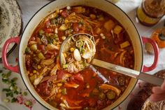 A southern regional dishes that is often made in enormous quantities for church and community fundraisers. But it& still made, and loved, at home. Brunswick Stew, Chicken Ham, Smoked Ham, Gluten Free Chicken, Bean Recipes, Soup And Salad, Soups And Stews, Camellia, Good Food