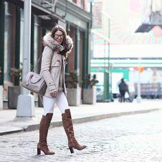 """Winter neutrals! Earlier today. #NYC #ootd ------- De hoje! #CamilainNYC {Photo @icarobrenner }"""