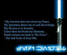 Jedi Code of Zeni Oba