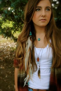 Turquoise Feather Hair Jewelry Feather Extension Hair by LissyDawn, $55.00