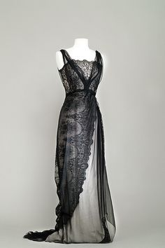 Costume designed by Dorothy Jeakings and Charles Lemaire for Barbara Stanwyck in Titanic (1953).  From the Bibliotheque du Film