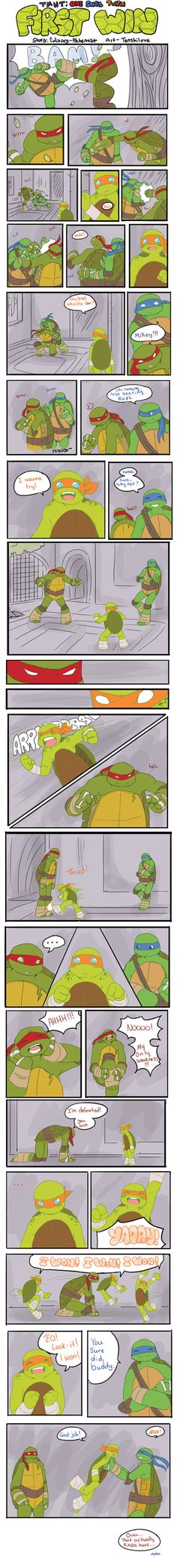 TMNT: One Small Turtle : First Win by *Tenshilove on deviantART