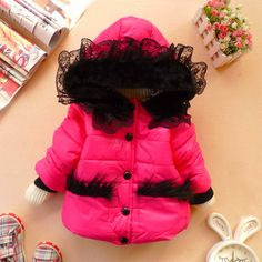 12m-5T baby clothes baby girl clothes winter coat kids rosered coat. $26.99, via Etsy.