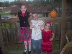 Homemade zombie, Draculaura, and Pop Princess costumes  The Momisodes: Spooky Reflections