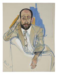 "Tom Freudenheim by Alice Neel, 1979, oil on canvas, 102 x 76 cm  (40 x 30"") | The Armory Show 2015 | Pier # 94, Booth # 612 | AUREL SCHEIBLER"