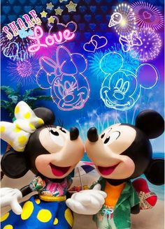 Disney Mickey and Minnie Share The Love Lenticular Greeting Card Mickey Mouse Movies, Arte Do Mickey Mouse, Minnie Mouse Drawing, Minnie Mouse Stickers, Mickey Mouse Pictures, Disney Micky Maus, Mickey Mouse And Friends, Mimi Y Mickey, Mickey And Minnie Love