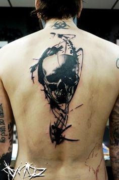 Para el brazo quedsría genial Skeleton Tattoos, Skull Tattoos, Body Art Tattoos, Sleeve Tattoos, Cool Tattoos, Tatoos, Tatoo Anubis, Define Tattoo, Tatuaje Trash Polka