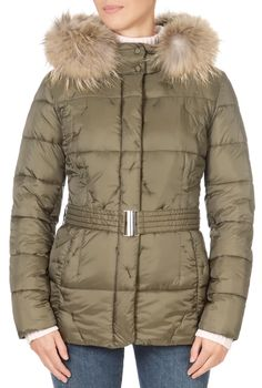 This is the stunning Khaki Green Short Puffer Coat With Fur from our friends at Pregio! A cosy piece with a central zip fastening, side pockets, and a detachable fur trim on the hood. This is the perfect piece to carry you into the colder season! Winter Coats Women, Winter Jackets, Puffer Coat With Fur, Green Shorts, Khaki Green, Fur Trim, Cosy, Pockets, Zip