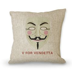 Movies pillowcase V FOR VENDETTA  18 posters pillow by art888888, $29.00