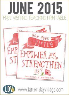 June 2015 FREE Visiting Teaching Handouts!