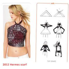 Have You Ever Tried to Wear Hermes Scarves as Tops or Skirts? hot sale high heels