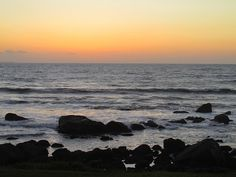 Watch the sunset over the Pacific at Ensenada. Baja California, Mexico.