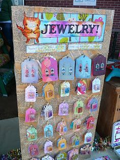 Craft fair display on pinterest craft booths craft fair for How to make a ring display for craft shows