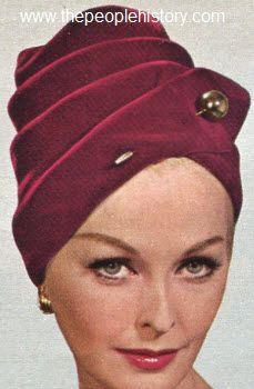 1963 Draped Turban