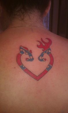Rebel flag Browning heart