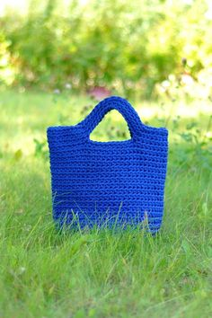 Handmade crochet beach bag, market bag, tote bag  This unique design Bag is crocheted from rope.  Exclusive hand knitted handbag is a fashionable accessory which reflects woman's character and personality. For a woman it is the best place to hold personal items. Handmade rope handbag features high durability and can withstand heavy load because of the double rope handles.  - Dimensions 38x40 cm., Handbag size can be arranged according to your needs. - Made of high quality rope., - Very…