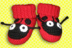 baby socks lady bug