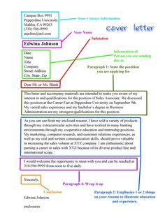 basic cover letter breakdown this is the format we were taught minus our name - Example Resume Cover Letters