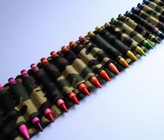 Crayon Ammo Belt  :-) I know someone's boys who would love this!!! @Alicia Whitten