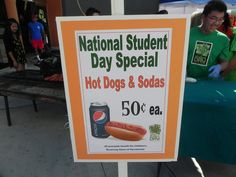 What's not to love about 50¢ hot dogs & soda?