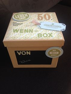 Hallo Bastelfreunde, wir wissen nicht ob ihr schon eine Wenn-Box gestaltet oder verschenkt habt? Aber wir können euch sagen, dass ein solches Geschenk super gut ankommt und mal etwas Anderes ist. H…