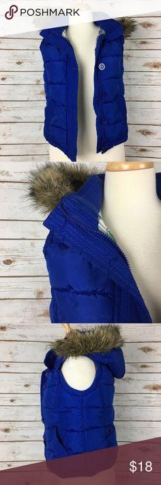 I just added this listing on Poshmark: Aeropostale Blue Puffer Faux Fur Hooded Vest. #shopmycloset #poshmark #fashion #shopping #style #forsale #Aeropostale #Jackets & Blazers