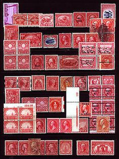 #65-O17 Nice Reds Lot 1861-1952 Odds n Ends Fresh VF *MNH*, Mint & Used 40 items