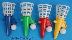 lance balle : lancer de plus en plus haut et essayer de la rattrapper en faisant attention au rebond!