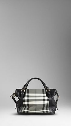 Medium Beat Check Belted Tote Bag | Burberry