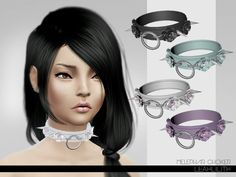 The Sims Resource: Melephar Choker by Leah Lillith • Sims 4 Downloads