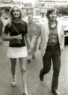 Sharon Tate and Roman Polanski. A George Vreeland Hill post. Sharon Tate, Hollywood Stars, Classic Hollywood, Old Hollywood, Charles Manson, Cannes, Most Beautiful Women, Beautiful People, Roman Polanski