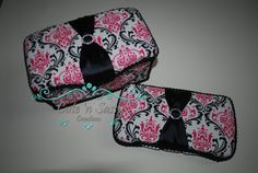 2 Pc Baby Wipe Case Gift Set  Madison by CutenSassyCreations, $27.00