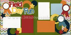 Field Day Fun Scrapbook Page Kit