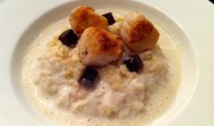 Cauliflower Risotto with Chocolate Jelly.