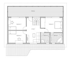 Small House CH95 design & images & floor plans. House Plan