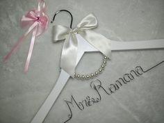 Custom Wedding Hanger bridesmaid gifts name by Brightwedding
