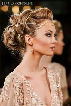 Beautiful hair-do for a wedding