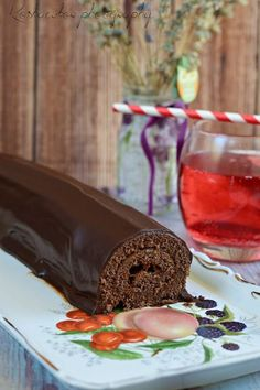 Koskacukor: Sacher rolád Hungarian Recipes, Cookie Recipes, Panna Cotta, Deserts, Pudding, Ale, Sweets, Snacks, Chocolate