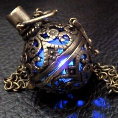 perfume bottle in brass cage