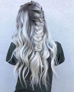 Nice fishtail braid style