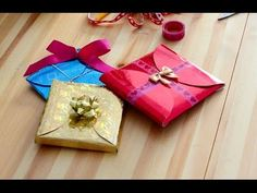 DIY How to make cheap, quick and easy gift wrapping in 5 minutes. - YouTube
