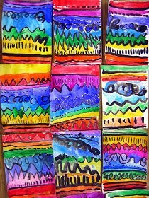 Cassie Stephens: In the Art Room: A Unit on Line Use roygbiv possible art night activity?