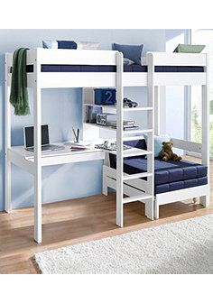 Mezzanine bed with worktop + shelves promo price Child's bed 3 Swiss . - Ikea DIY - The best IKEA hacks all in one place Home Room Design, Small Room Design, Kids Room Design, Small Room Bedroom, Bedroom Loft, Bedroom Decor, Dream Bedroom, Mezzanine Bedroom, Bedroom Ideas