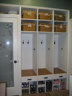 Idea to add a mudroom in your garage if you don't have space for a separate one in your current home.