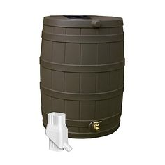 Good Ideas RW50DIVOAK Rain Wizard Rain Barrel 50Gallon Diverter Kit Oak ** Click image for more details.