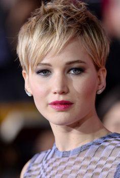 Jennifer Lawrence.  (Lovin' her new Pixie cut)