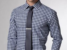 Men's checkered shirt and tie