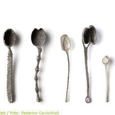 Gabi Veit spoons (Bottle Sketch Candle Holders)