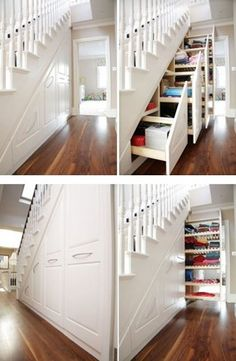 under stair storage, similar to what I have in my own home, love it