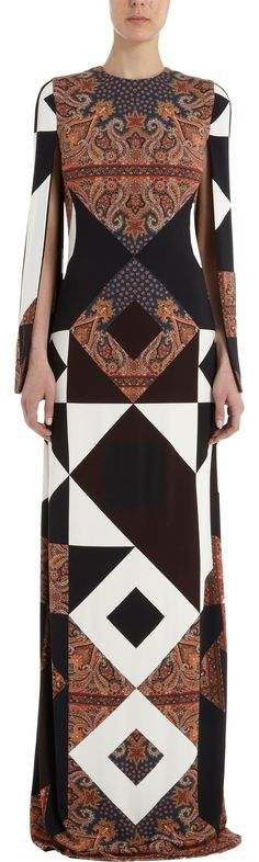 Givenchy Geometric Paisley Gown